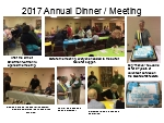Click or Choose this picture to view a larger collage of the 2017 Dinner/Meeting.