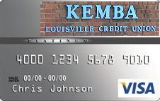 This is a picture of the KEMBA Louisville C U VISA Credit Card