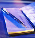 Image of a checkbook