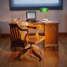 image of an office with a desk and a chair